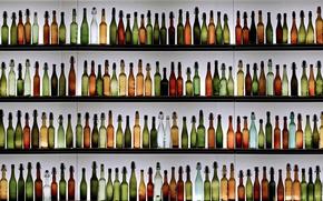 Картинка фон, бутылки, полки