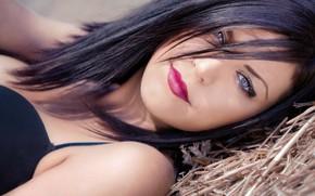 Картинка девушка, помада, губы, Pascal Martin
