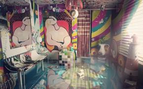 Картинка дизайн, предметы, помещение, обстановка, Surreal interior
