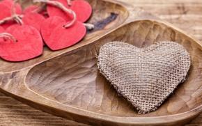 Картинка love, wood, romantic, hearts, valentine`s day