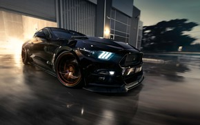 Обои Mustang, Ford, Muscle, Car, Black