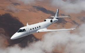 Картинка полёт, Gulfstream, G150, Aerospace, небо, самолёт, облака