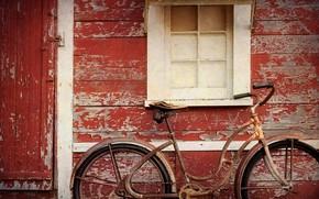 Картинка велосипед, дом, окно