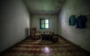 Картинка кресло, окно, аккордеон