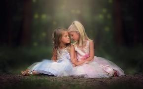 Картинка дети, девочки, платья, danielle waage, So tender the connection between sisters