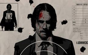 Картинка cinema, blood, man, movie, film, Keanu Reeves, powerful, strong, John Wick, target, John Wick 2, ...