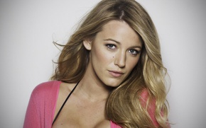 Картинка взгляд, актриса, блондинка, фотомодель, Blake Lively, Блейк Лайвли