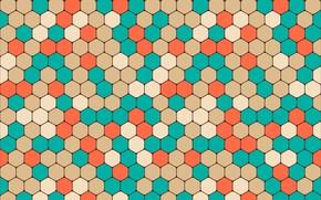 Обои colorful, abstract, геометрия, background, pattern, hexagon, shapes, geometric, абстракциия