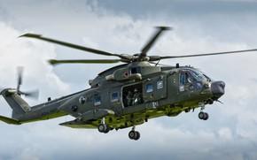 Картинка вертолёт, AgustaWestland AW101, авиация, полёт, Merlin