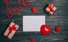Картинка Любовь, Праздник, Сердечко, Подарок, День влюбленных
