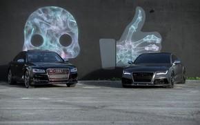 Картинка Audi, Black, Gray, VAG, RS7