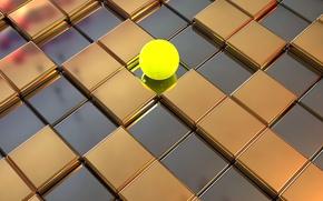 Картинка кубы, шар, полированная поверхность