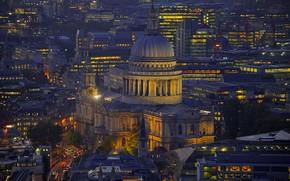 Картинка Англия, Лондон, панорама, Собор Святого Павла
