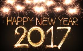 Картинка новый год, new year, happy, fireworks, 2017