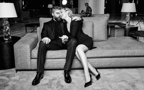 Картинка девушка, любовь, радость, мужчина, певица, влюбленные, Полина Гагарина, Дмитрий