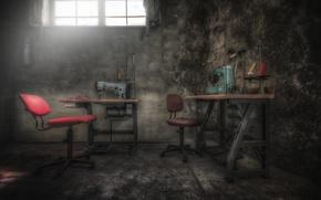 Картинка фон, мастерская, швейная машина