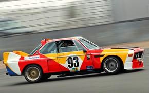 Картинка Авто, Машина, Скорость, БМВ, Вид сбоку, BMW 3.0 CSL, Alexander Calder, BMW 3.0, Art Car, …