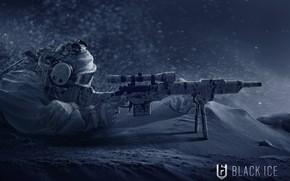 Обои зима, арт, солдат, Tom Clancy`s Rainbow Six: Siege, оружие