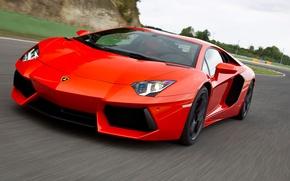 Обои дорога, Lamborghini, LP700, Aventador