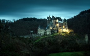 Обои природа, Germany, Eltz Castle