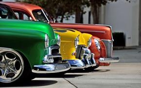 Картинка Ford, Chevrolet, retro cars