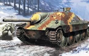 Картинка САУ, истребитель танков, самоходная артиллерийская установка, Hetzer, немецкая лёгкая, Jagdpanzer 38(t)
