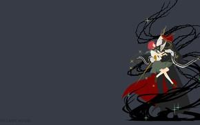 Картинка skull, red, girl, love, red hair, anime, redhead, witch, 004, light novel, mahou, japonese, thorn, …