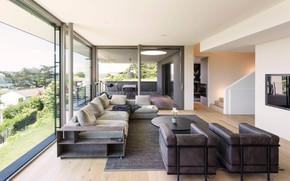Картинка интерьер, гостиная, столовая, House in Zurich, by Meier Architekten