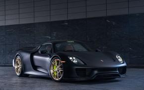 Картинка Porsche, Spyder, 918, Gray, VAG, E-hybrid