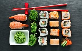 Картинка водоросли, рис, суши