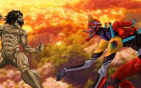 Картинка game, Neon Genesis Evangelion, alien, anime, fight, battle, manga, japanese, oriental, asiatic, combat, Shingeki no …