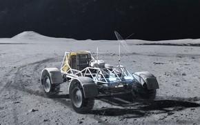 Картинка поверхность, транспорт, антенна, луноход, Twardowskys rover