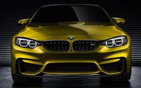 Обои Bmw, Car, Gold