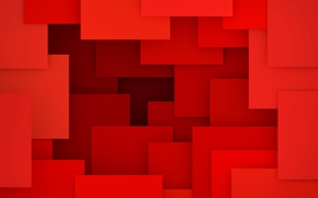 Обои design, 3D rendering, background, geometry, abstract, geometric shapes, red