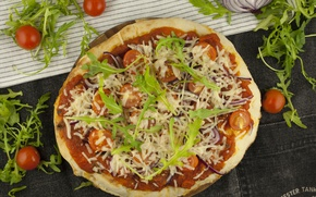 Картинка Помидоры, Еда, Пицца, Pizza