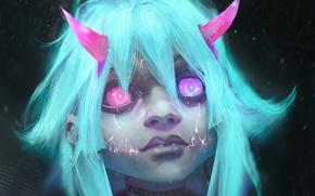 Картинка фантастика, демон, девочка