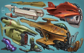 Обои дизайн, корабли, будущие, космические, стиль