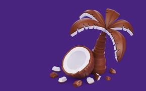Картинка пальма, еда, шоколад, кокос, вкусняшки, AJ Jefferies, Cadbury Dairy Milk Icons