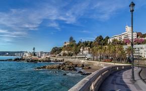 Картинка небо, пейзаж, город, Vinã del mar