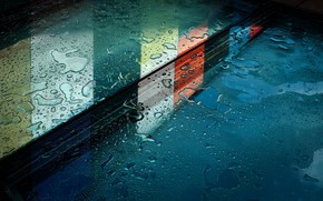 Картинка мокро, стекло, макро, отражение