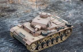 Картинка игрушка, моделька, немецкий средний танк, PzKpfw III, Panzer III