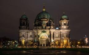 Картинка ночь, Германия, Берлин, Berlin Dom