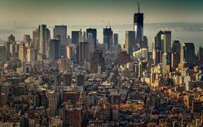 Картинка дома, Нью-Йорк, небоскребы, Город, Манхэттен