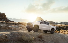 Обои White, Truck, Silverado, Z71, Pick Up, Chevroet, 2019
