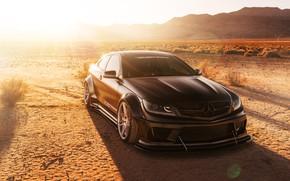 Обои автомобиль, пустыня, Mercedes-Benz