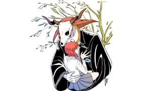 Картинка романтика, аниме, пара, Mahou Tsukai no Yome, The Ancient Magus' Bride, Elias Ainsworth, Hatori Chise