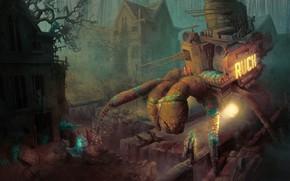 Картинка лес, краб, Maurice Crab