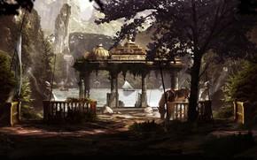 Картинка горы, берег, лошадь, Armando Savoia, Concept artist