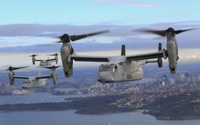 Обои Osprey, MV-22B, конвертопланы, полет