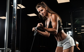 Обои workout, look, female, fitness
